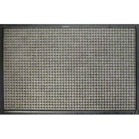 M + A Matting Waterhog® Classic - Medium Grey, 3x4