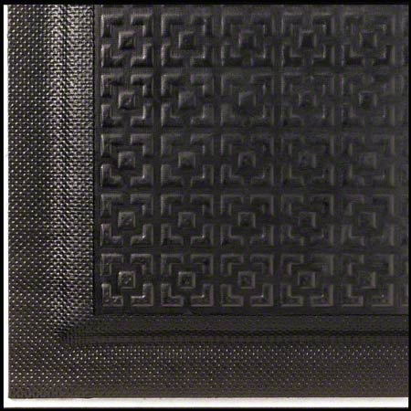 M + A Matting Happy Feet® Texture Top Linkable- Black, 3x5