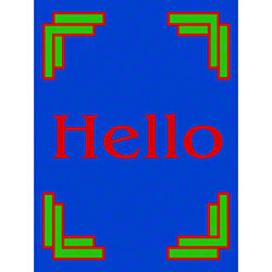 M + A Matting Computuft Greeting Hello Mat - 3' x 4'