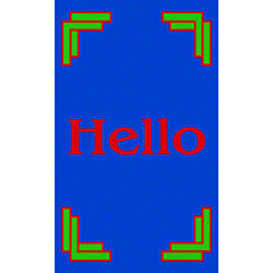 M + A Matting Computuft Greeting Hello Mat - 3' x 5'