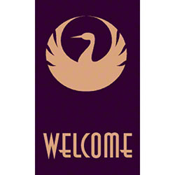 M + A Matting Computuft Greeting Welcome Swan Mat - 3' x 5'