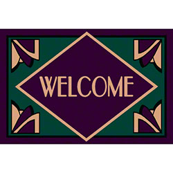 M + A Matting Computuft Art Deco Welcome Mat - 4' x 6'