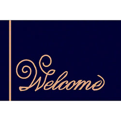 M + A Matting Computuft Greeting Script Welcome Mat - 4' x 6