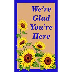 M + A Matting Classic Impressions Sunflower Welcome Mat - 3'