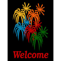 M + A Matting Classic Impressions Fireworks Welcome Mat - 3'