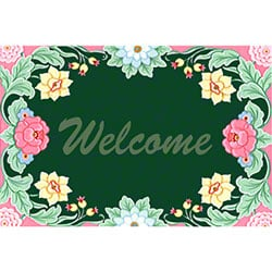 M + A Matting Classic Impressions Flower Welcome Mat - 4x6