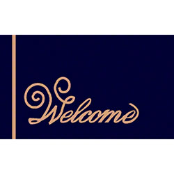 M + A Matting Computuft Greeting Script Welcome Mat - 3' x 4