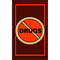 M + A Matting Classic Creation No Drugs Mat - 3' x 5'