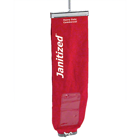 Janitized® Red Upright Cloth Vacuum Bag w/Lock