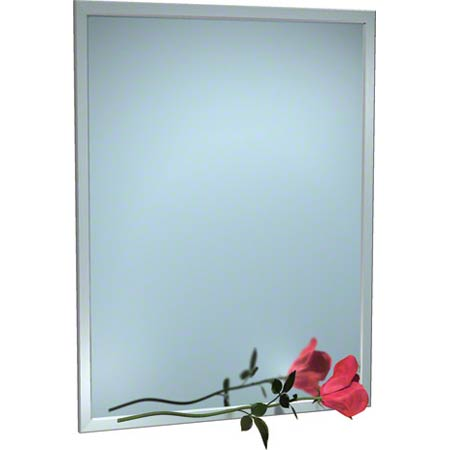 """ASI Stainless Steel Inter-Lok Angle Frame Mirror - 24"""" x 60"""""""