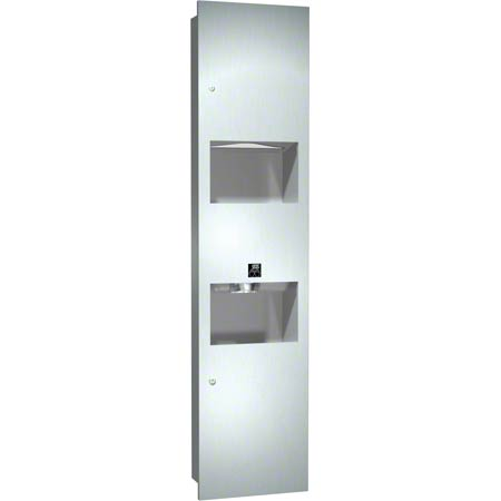 ASI Towel Dispenser/Hand Dryer/Receptacle Three-In-One Unit