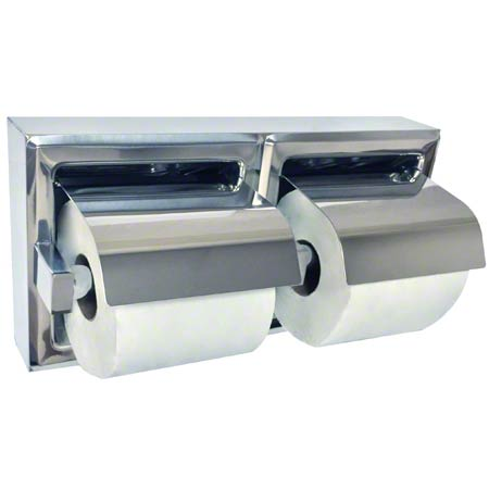 ASI Surface Mounted Satin SS Double Tissue Holder w/Hood