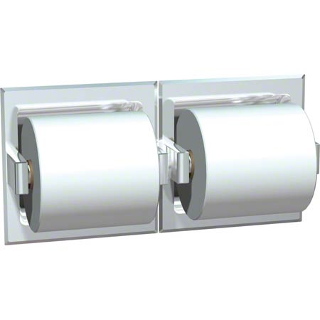 ASI Recessed Satin SS Double Toilet Tissue Holder