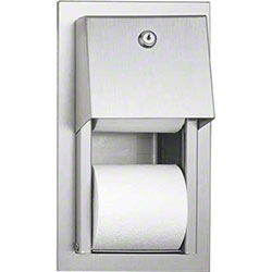 ASI Recessed Dual Roll Toilet Paper Dispenser