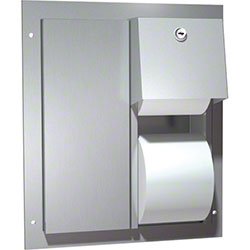 ASI Dual Access Toilet Paper Dispenser - Stainless Steel