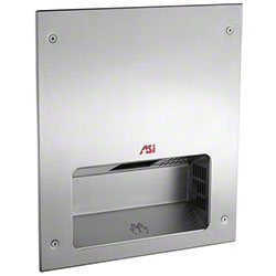 ASI Fully Recessed Automatic Hand Dryer - Satin Stainless