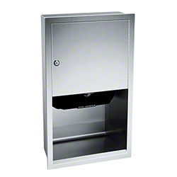 ASI Recess Mounted Automatic Roll Paper Towel Dispenser