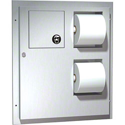 ASI Dual Access Toilet Tissue Dispenser w/Napkin Disposal