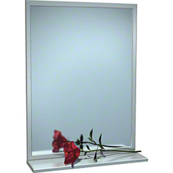 "ASI Stainless Steel Angle Frame Mirror w/Shelf - 18"" x 36"""