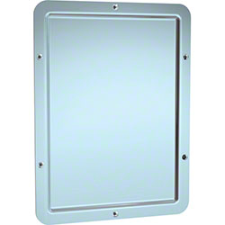 ASI Front Mounted One Piece Framed Mirror w/Rounded Corners
