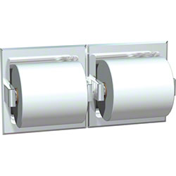 ASI Recessed Bright SS Double Toilet Tissue Holder