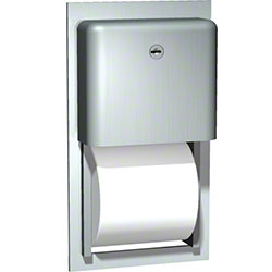 ASI Profile Recessed Dual Roll Bath Tissue Dispenser