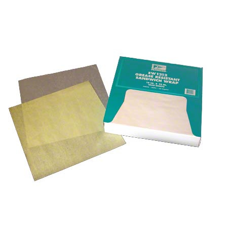 """Bagcraft™ Grease Resistant Paper Wrap - 15"""" x 16"""", White"""