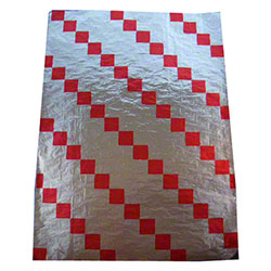"Bagcraft™ Honeycomb Check Foil Wrap - 10 1/2"" x 14"", Red"