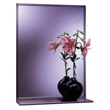 "Bobrick B-166 Series Mirror/Shelf Combination - 18"" x 24"""