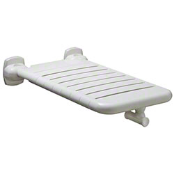 "Bobrick Vinyl-Coated Folding Bathtub Seat - 15"" x 32"""