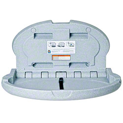 Koala Kare Oval Wall Mounted Baby Changing Station - Grey Granite