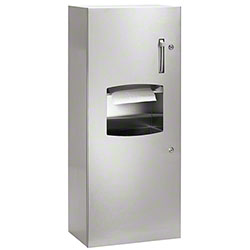 Bradley® Bradex® Semi-Recessed Towel Dispenser/Recpt.