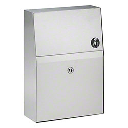 Bradley® Bradex® Partition-Mounted Napkin Disposal