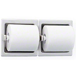 Bradley® 5124 Recessed Dual Roll Toilet Tissue Dispenser
