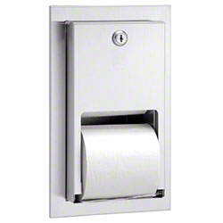 Bradley® 5412 Recessed Dual Roll Tissue Dispenser