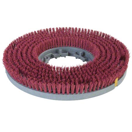 """Carlisle Colortech™ Value Rotary Brush - 17"""", Red"""