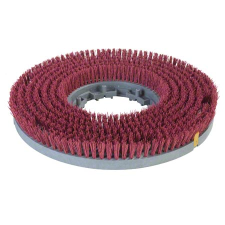 """Carlisle Colortech™ Value Rotary Brush - 19"""", Red"""