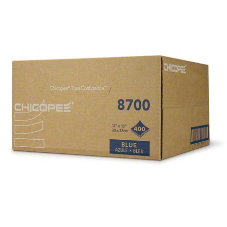 """Chicopee® Veraclean® - 12"""" x 13.5"""", Blue, Smooth"""