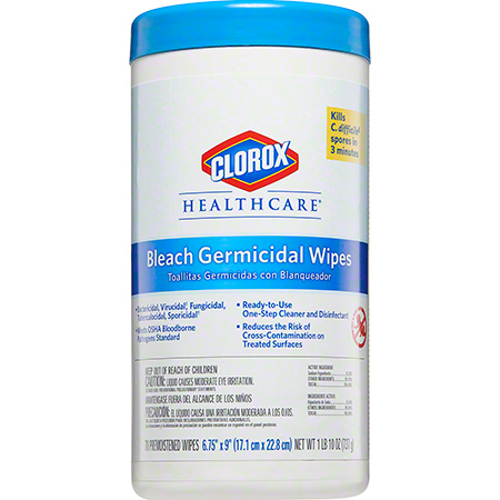 Clorox® Healthcare® Bleach Germicidal Wipes - 70 ct. Canister