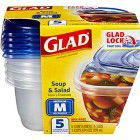 Glad® Soup & Salad Food Storage Container w/Lid - 24 oz.
