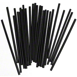 "Cell-O-Core 8"" Black Fat Straw"
