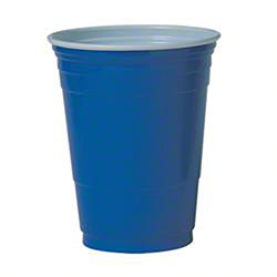 Solo® Blue Polystyrene Plastic Cold Party Cup - 16 oz.
