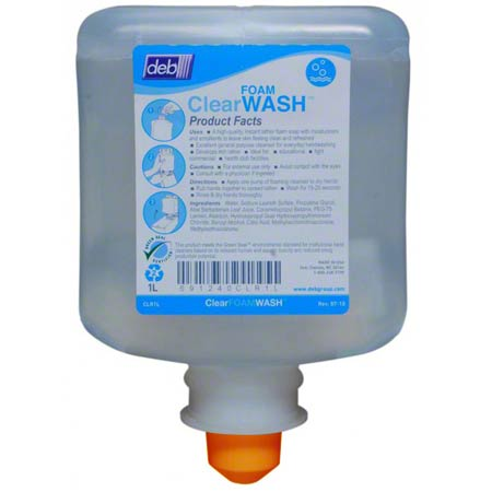 Deb® Clear FOAM Wash Hand Soap - 1 L