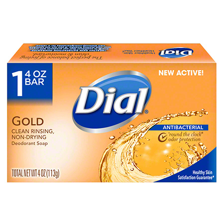 Dial® Antibacterial Deodorant Bar-Retail Wrap, 4 oz, Gold
