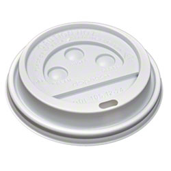 Hot Cup Dome Lid for 10 oz. Squat to 24 oz. - White
