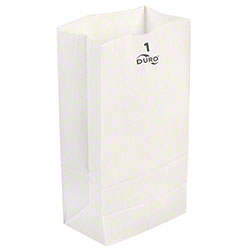 Duro White Grocery Bags