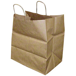 "Duro 10"" Gusset Super Royal Handle Bag - 70#, Kraft"