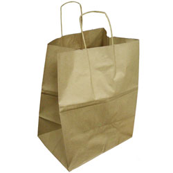 "Duro Kraft Shopping Bag - 16"" x 11"" x 18.25"", Grande"