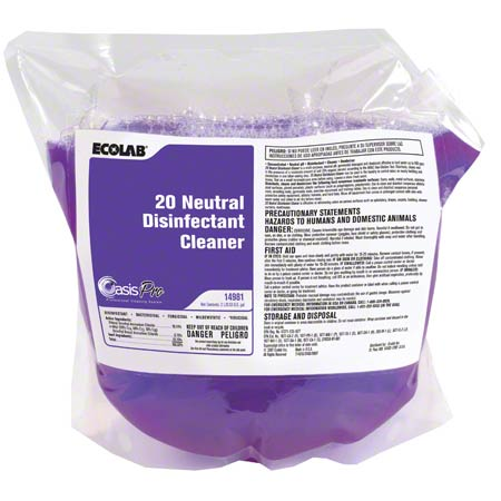 Ecolab® 20 Neutral Disinfectant Cleaner - 2 L