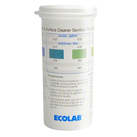 Ecolab® Sink & Surface Test Strips - 100 ct. Pack